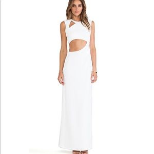 BCBG maxi dress with cut out